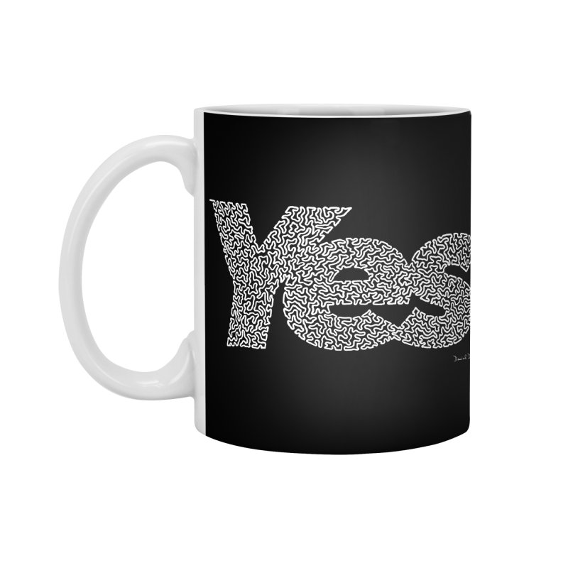 Yes (White) - Multiple Colors + 40 Other Products Accessories Mug by Daniel Dugan's Artist Shop