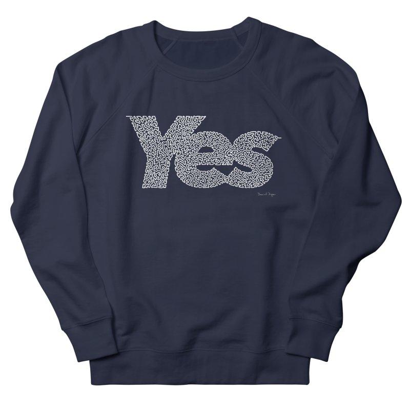Yes (White) - One Continuous Line Women's Sweatshirt by Daniel Dugan's Artist Shop