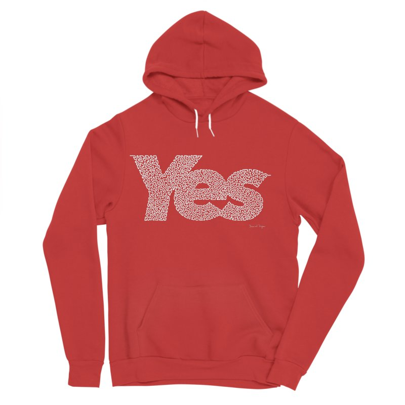 Yes (White) - Multiple Colors + 40 Other Products Women's Pullover Hoody by Daniel Dugan's Artist Shop