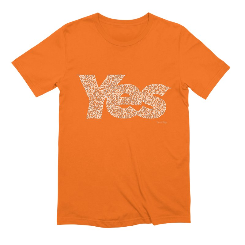 Yes (White) - Multiple Colors + 40 Other Products Men's T-Shirt by Daniel Dugan's Artist Shop