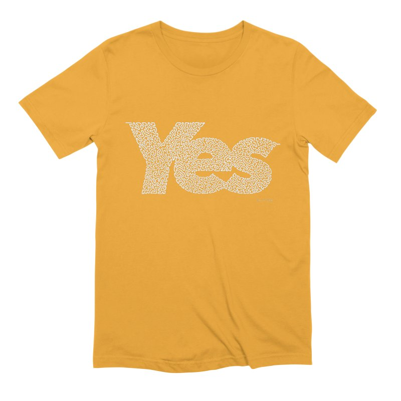Yes (White) - Multiple Colors + 40 Other Products Men's Extra Soft T-Shirt by Daniel Dugan's Artist Shop