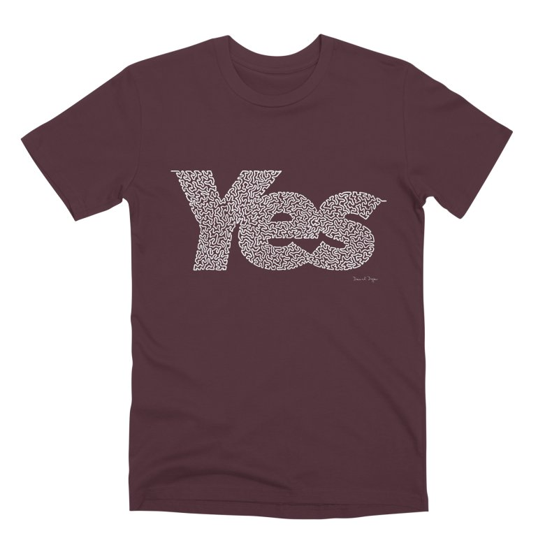 Yes (White) - Multiple Colors + 40 Other Products Men's Premium T-Shirt by Daniel Dugan's Artist Shop