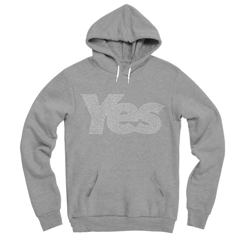 Yes (White) - Multiple Colors + 40 Other Products Women's Sponge Fleece Pullover Hoody by Daniel Dugan's Artist Shop