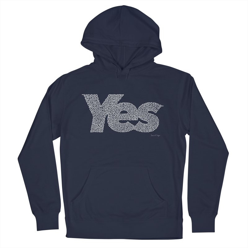 Yes (White) - Multiple Colors + 40 Other Products Men's Pullover Hoody by Daniel Dugan's Artist Shop