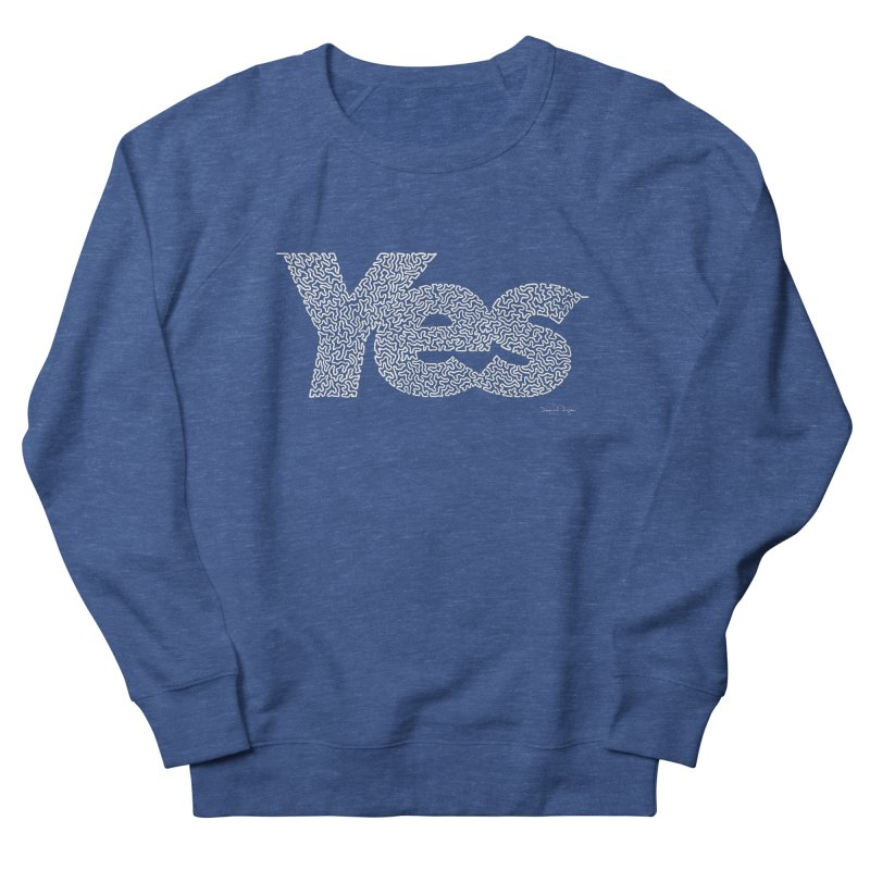 Yes (White) - Multiple Colors + 40 Other Products Men's Sweatshirt by Daniel Dugan's Artist Shop