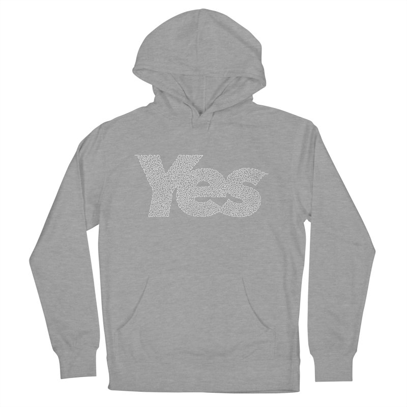 Yes (White) - Multiple Colors + 40 Other Products Men's French Terry Pullover Hoody by Daniel Dugan's Artist Shop