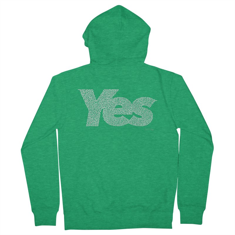 Yes (White) - Multiple Colors + 40 Other Products Women's French Terry Zip-Up Hoody by Daniel Dugan's Artist Shop