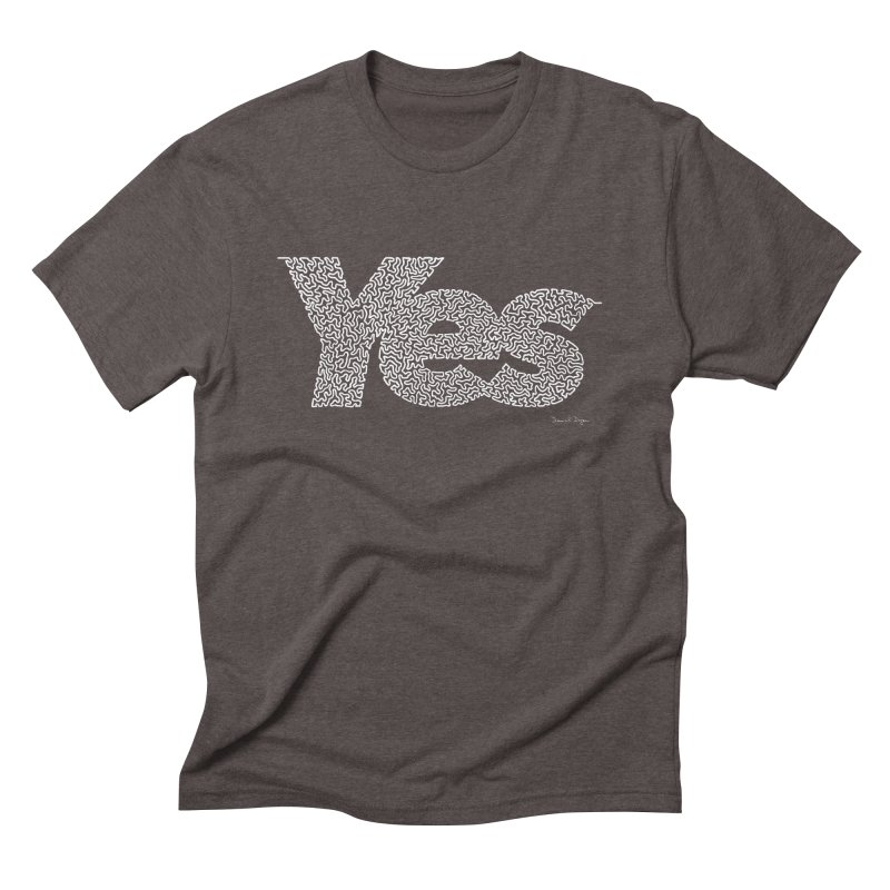 Yes (White) - Multiple Colors + 40 Other Products Men's Triblend T-Shirt by Daniel Dugan's Artist Shop