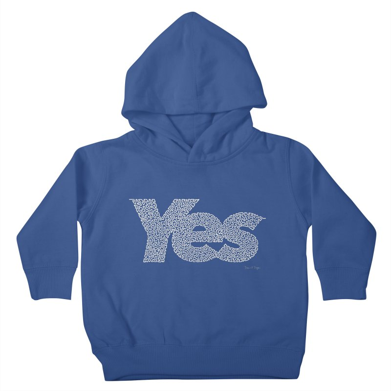 Yes (White) - Multiple Colors + 40 Other Products Kids Toddler Pullover Hoody by Daniel Dugan's Artist Shop