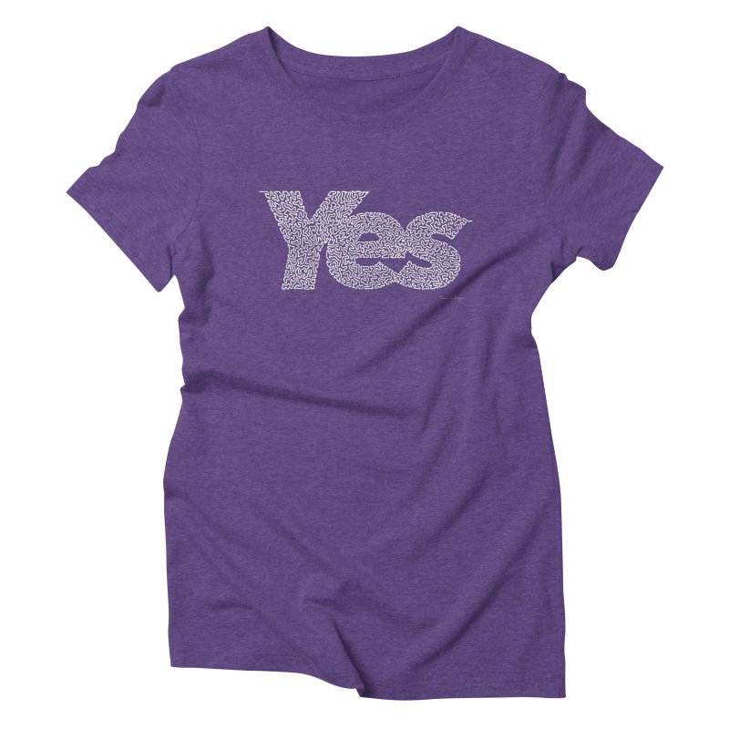 Yes (White) - Multiple Colors + 40 Other Products Women's T-Shirt by Daniel Dugan's Artist Shop