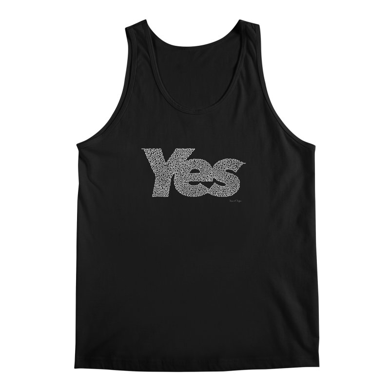 Yes (White) - Multiple Colors + 40 Other Products Men's Regular Tank by Daniel Dugan's Artist Shop