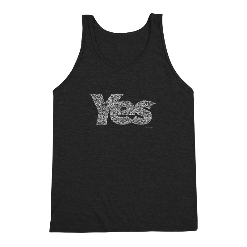 Yes (White) - Multiple Colors + 40 Other Products Men's Triblend Tank by Daniel Dugan's Artist Shop