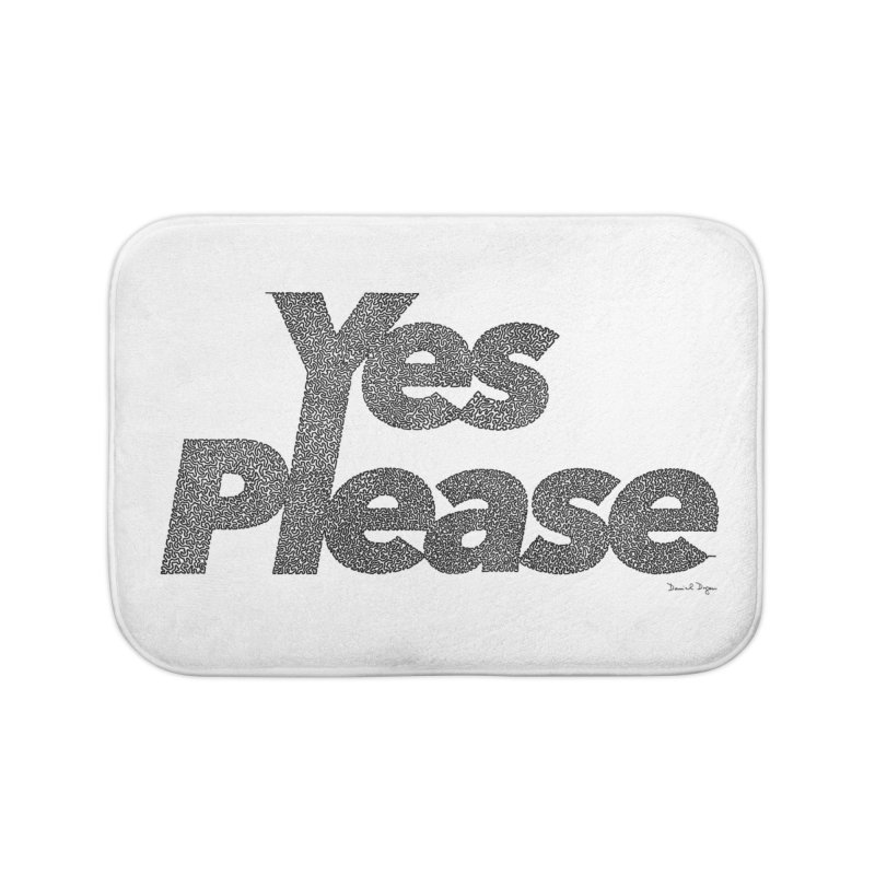Yes Please (Black) - Multiple Colors + 40 Other Products Home Bath Mat by Daniel Dugan's Artist Shop