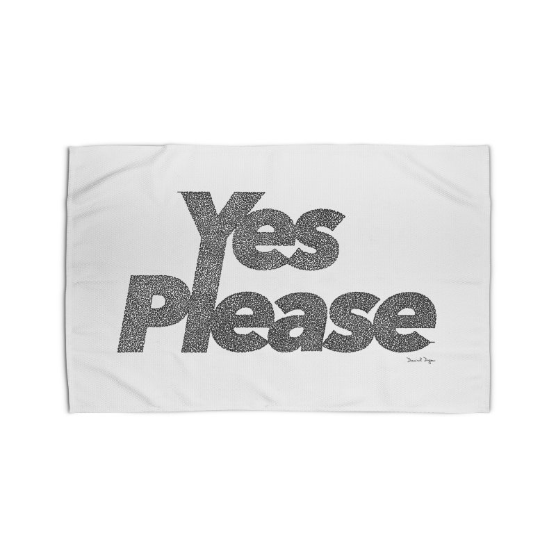 Yes Please (Black) - Multiple Colors + 40 Other Products Home Rug by Daniel Dugan's Artist Shop