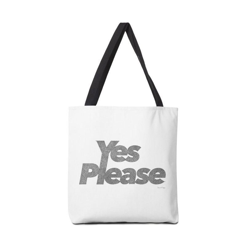 Yes Please (Black) - One Continuous LIne Accessories Bag by Daniel Dugan's Artist Shop