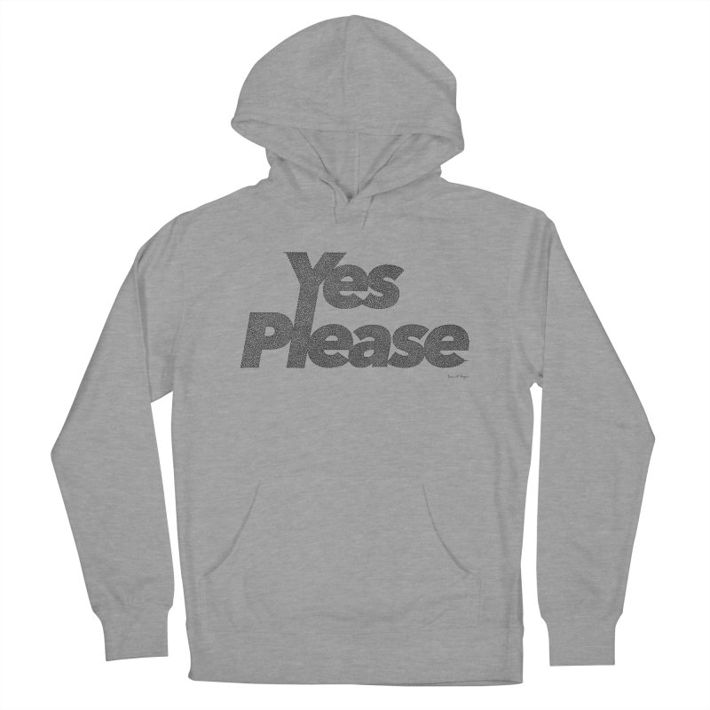 Yes Please (Black) - One Continuous LIne Women's French Terry Pullover Hoody by Daniel Dugan's Artist Shop