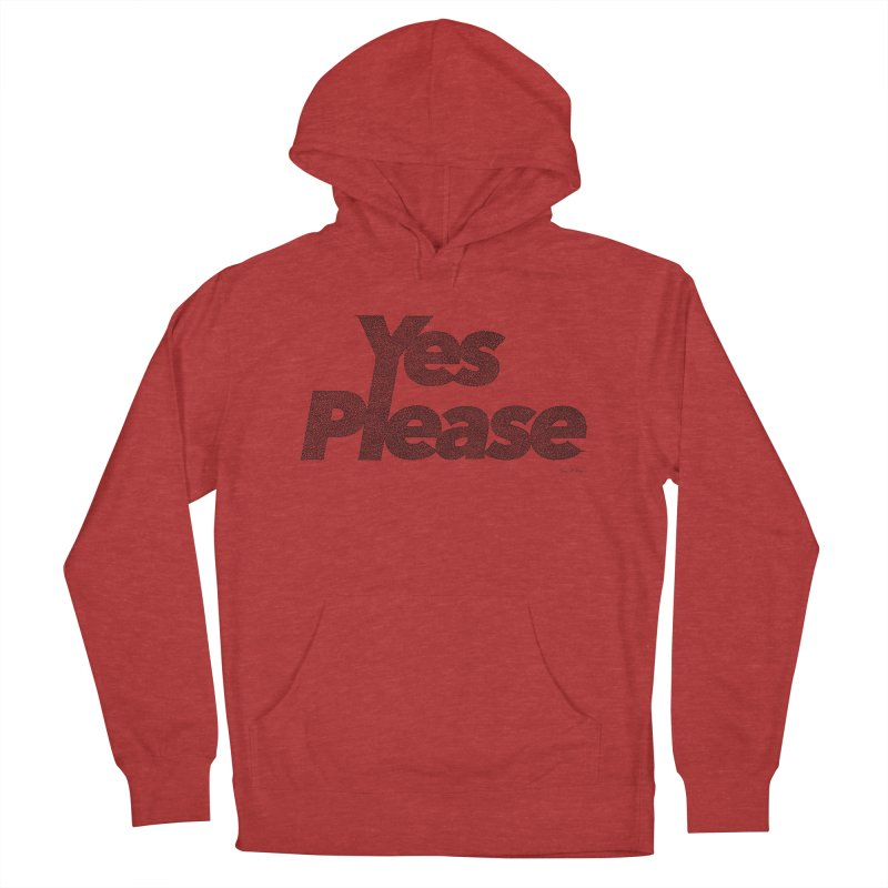 Yes Please (Black) - One Continuous LIne Women's Pullover Hoody by Daniel Dugan's Artist Shop