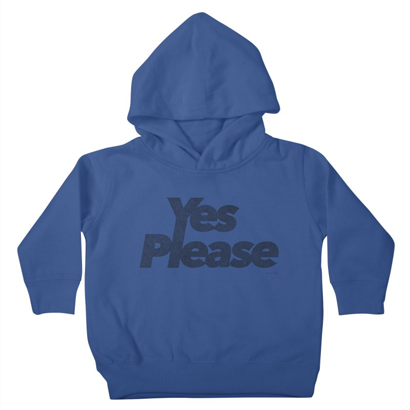 Yes Please (Black) - One Continuous LIne Kids Toddler Pullover Hoody by Daniel Dugan's Artist Shop