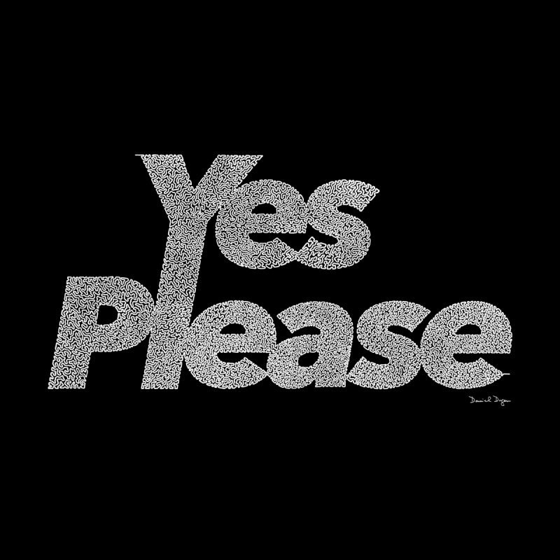 Yes Please (White) - Multiple Colors + 40 Other Products Home Stretched Canvas by Daniel Dugan's Artist Shop