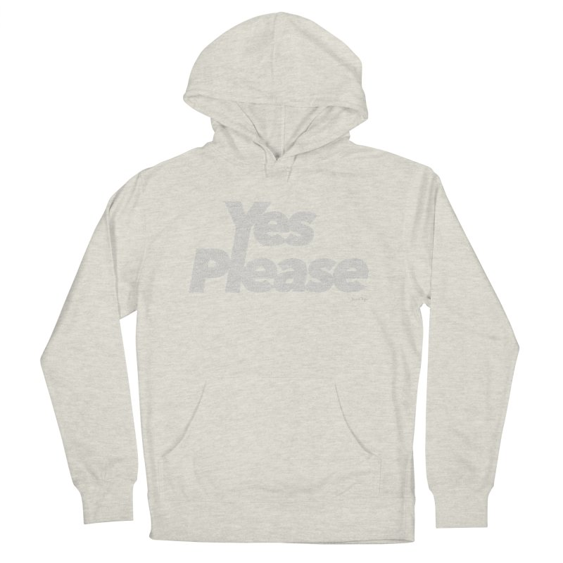 Yes Please (White) - One Continuous Line Men's French Terry Pullover Hoody by Daniel Dugan's Artist Shop
