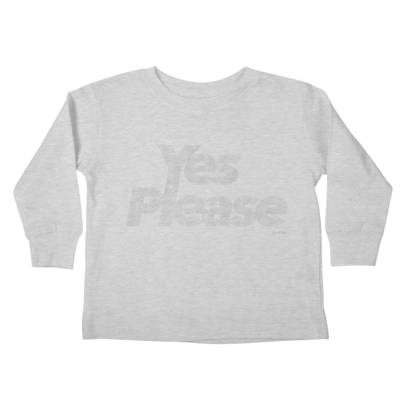 Yes Please (White) - One Continuous Line Kids Toddler Longsleeve T-Shirt by Daniel Dugan's Artist Shop
