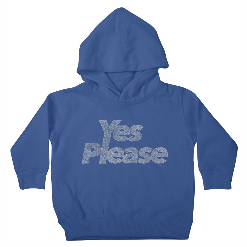 Yes Please (White) - One Continuous Line Kids Toddler Pullover Hoody by Daniel Dugan's Artist Shop