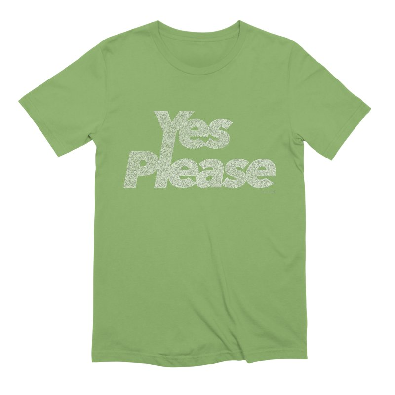 Yes Please (White) - Multiple Colors + 40 Other Products Men's Extra Soft T-Shirt by Daniel Dugan's Artist Shop