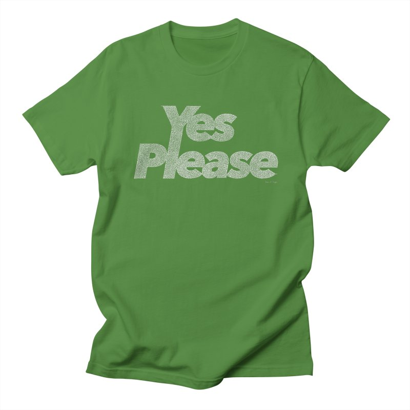 Yes Please (White) - Multiple Colors + 40 Other Products Men's Regular T-Shirt by Daniel Dugan's Artist Shop
