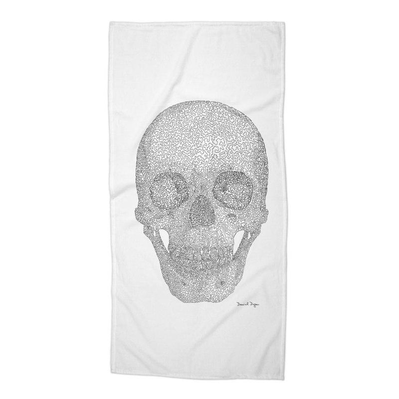 Skull (Black) Accessories Beach Towel by Daniel Dugan's Artist Shop
