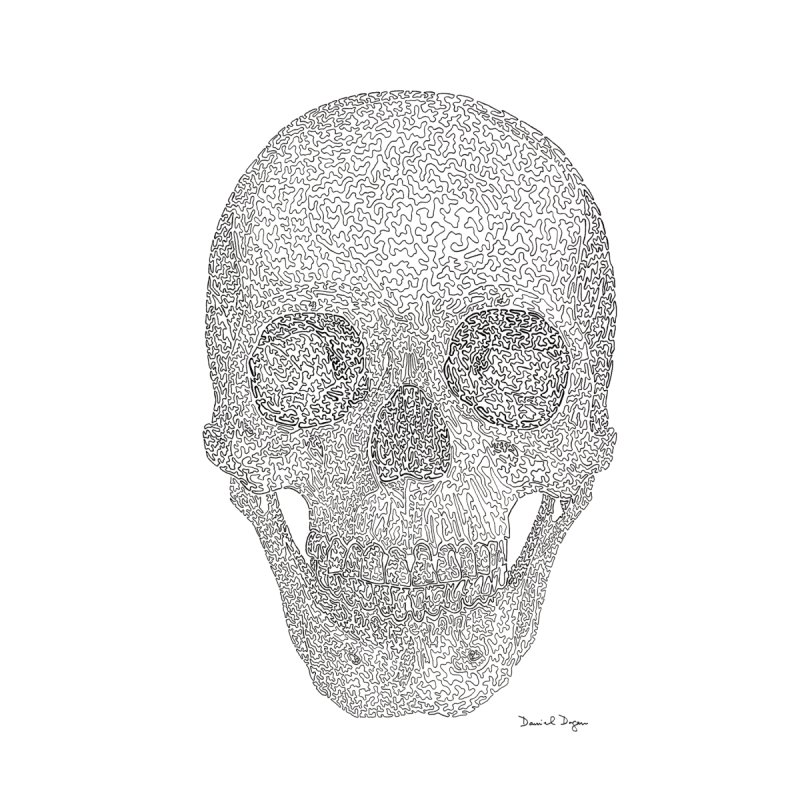 Skull (Black) by Daniel Dugan's Artist Shop