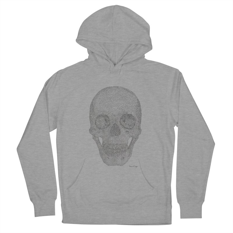 Skull (Black) Women's Pullover Hoody by Daniel Dugan's Artist Shop