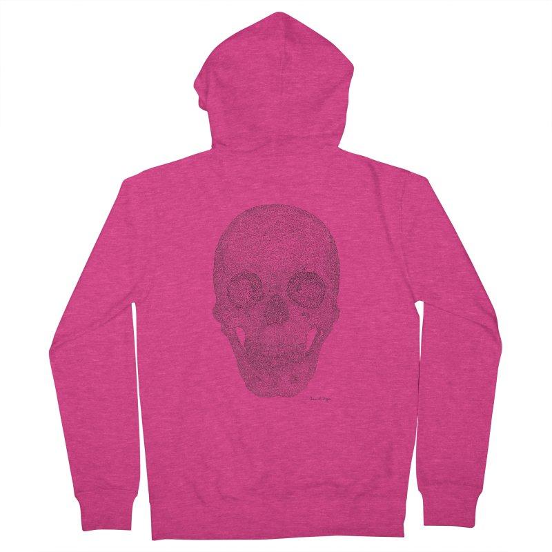 Skull (Black) Women's Zip-Up Hoody by Daniel Dugan's Artist Shop