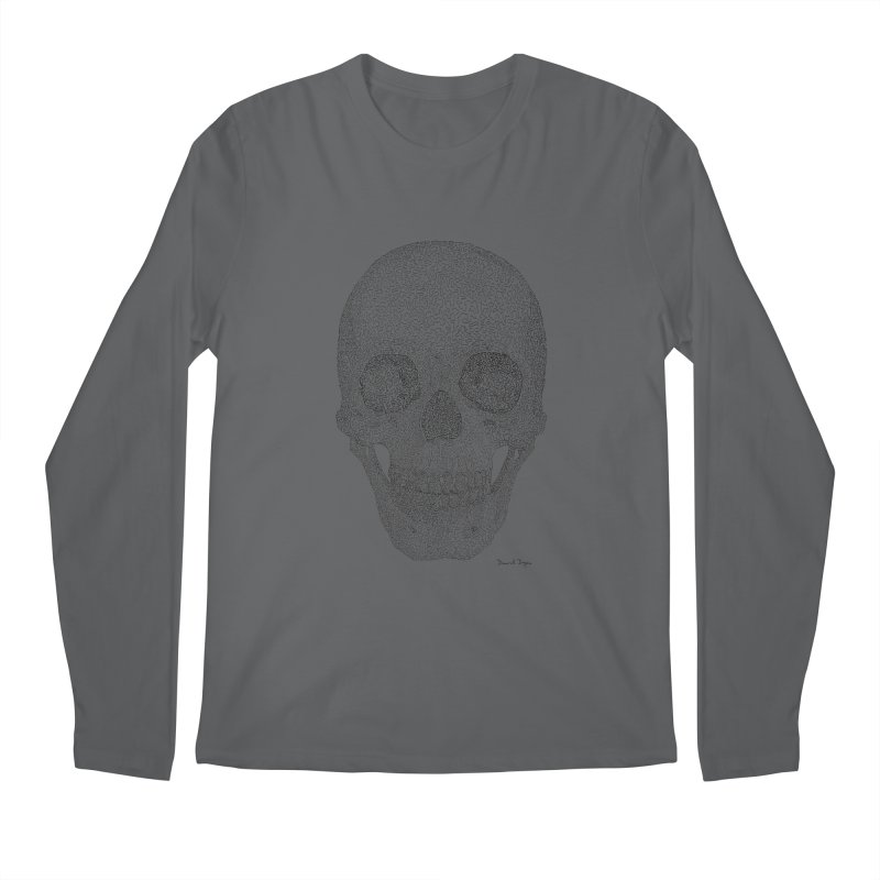 Skull (Black) Men's Longsleeve T-Shirt by Daniel Dugan's Artist Shop