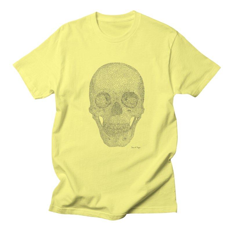 Skull (Black) Men's T-Shirt by Daniel Dugan's Artist Shop