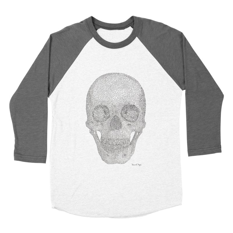 Skull (Black) Women's Longsleeve T-Shirt by Daniel Dugan's Artist Shop