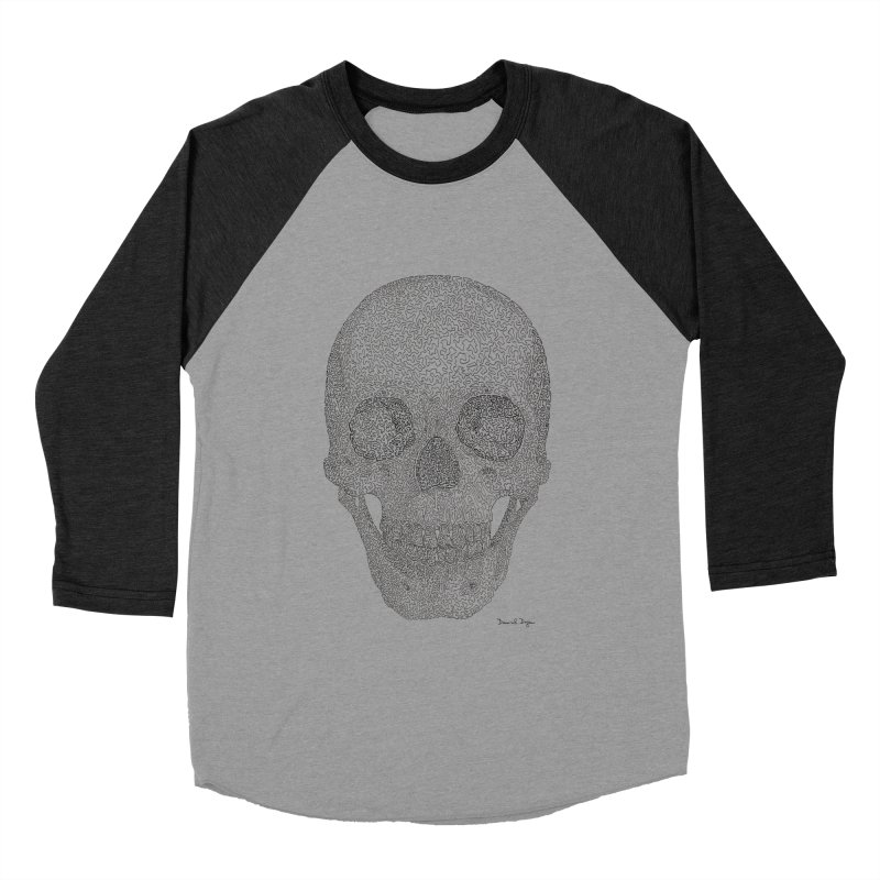 Skull (Black) Women's Longsleeve T-Shirt by Daniel Dugan's Artist Shop