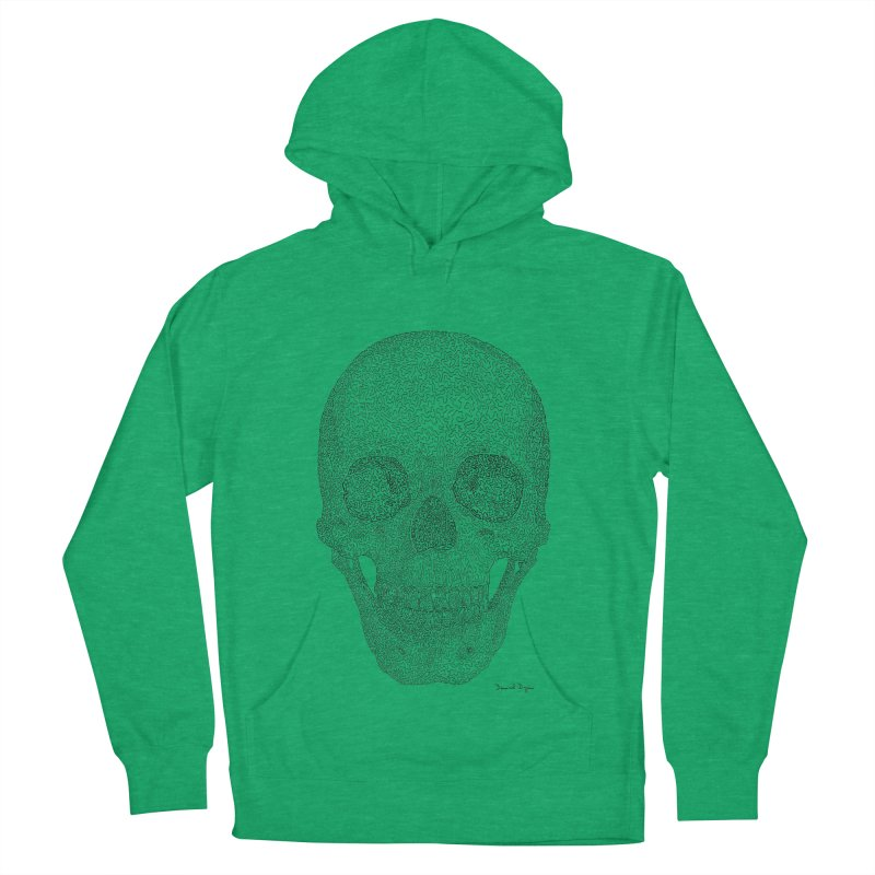 Skull (Black) Women's French Terry Pullover Hoody by Daniel Dugan's Artist Shop