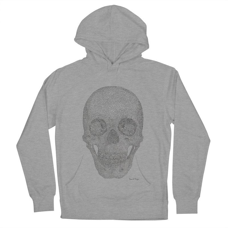 Skull (Black) Women's French Terry Pullover Hoody by Daniel Dugan's Artist Shop