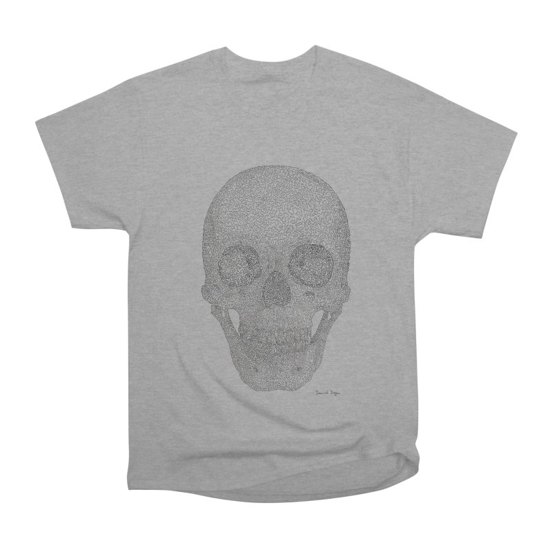 Skull (Black) Women's Heavyweight Unisex T-Shirt by Daniel Dugan's Artist Shop