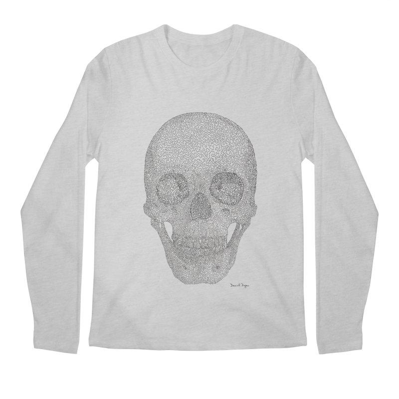 Skull (Black) Men's Regular Longsleeve T-Shirt by Daniel Dugan's Artist Shop