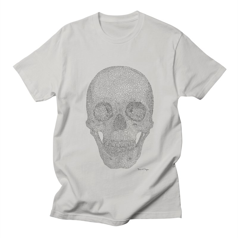 Skull (Black) Women's Regular Unisex T-Shirt by Daniel Dugan's Artist Shop