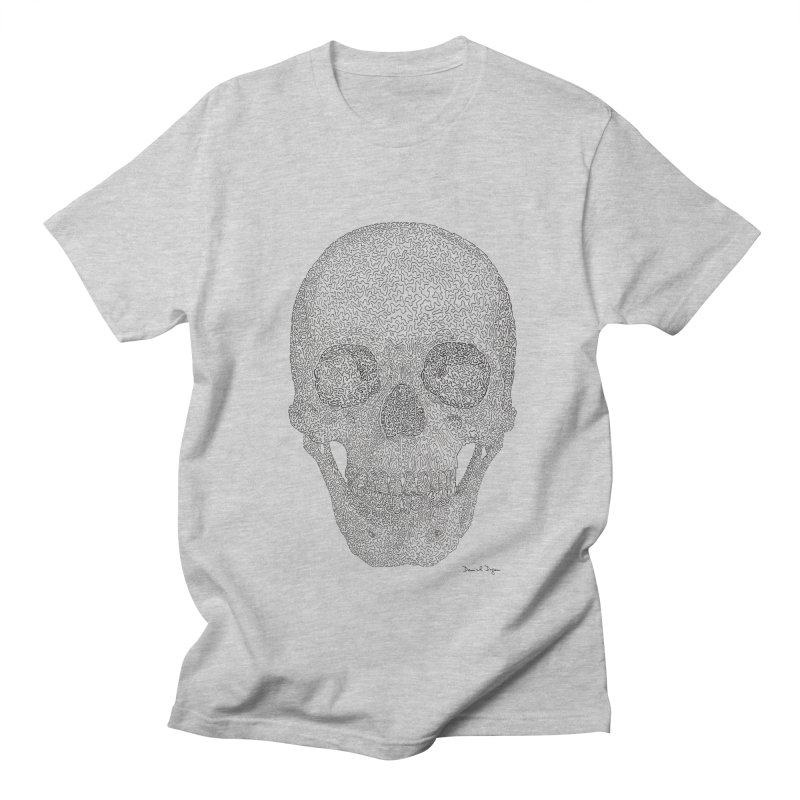 Skull (Black) Women's Regular Unisex T-Shirt by Daniel Dugan's Artist Shop
