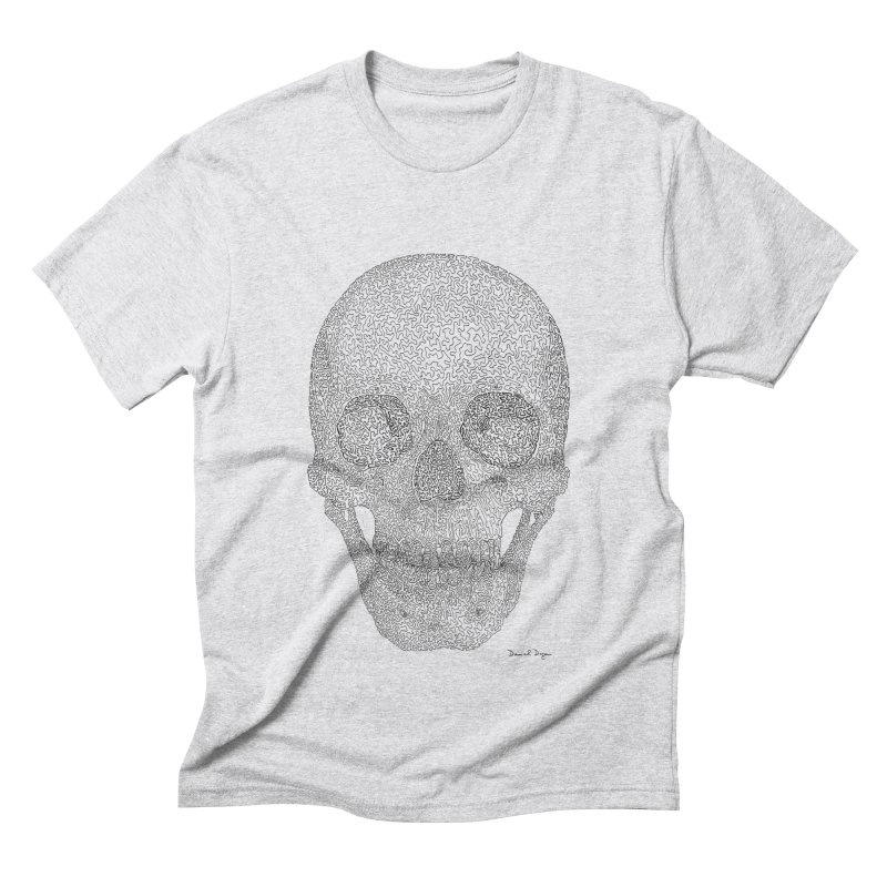 Skull (Black) Men's Triblend T-Shirt by Daniel Dugan's Artist Shop