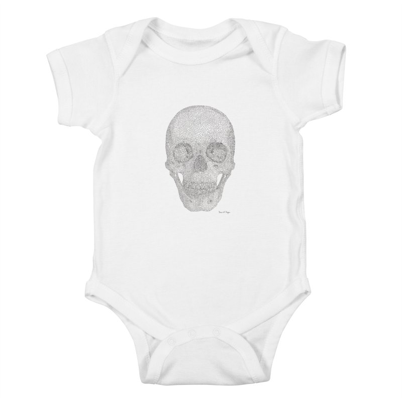 Skull (Black) Kids Baby Bodysuit by Daniel Dugan's Artist Shop