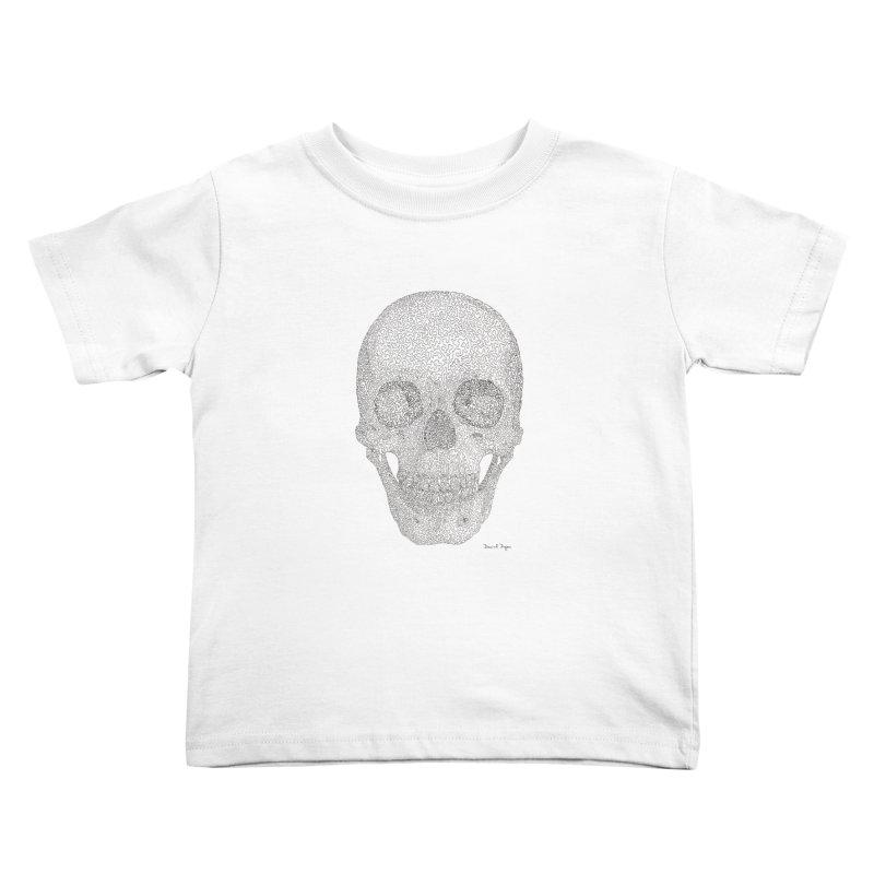 Skull (Black) Kids Toddler T-Shirt by Daniel Dugan's Artist Shop