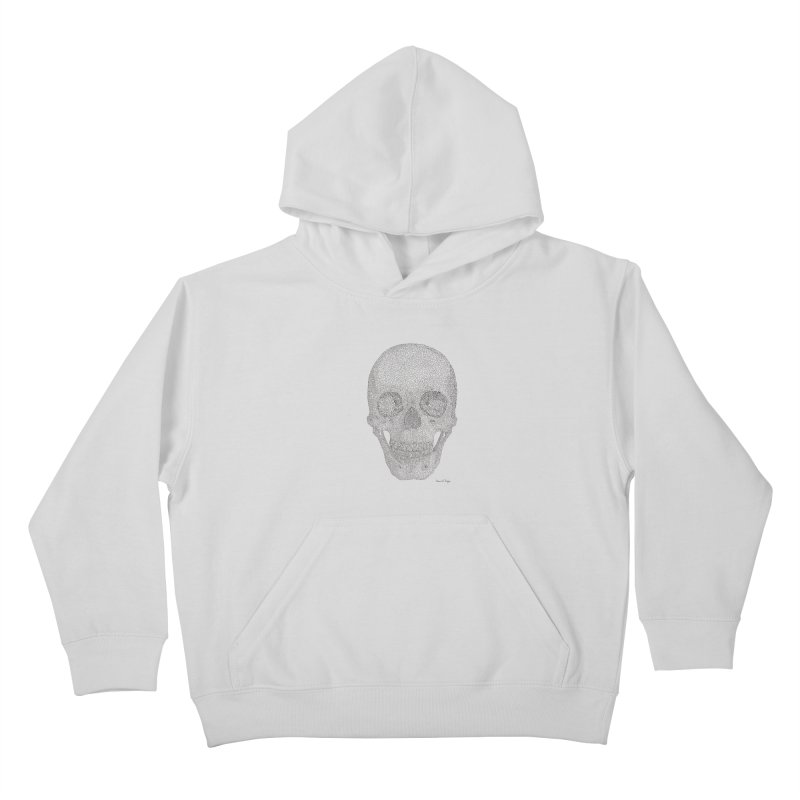 Skull (Black) Kids Pullover Hoody by Daniel Dugan's Artist Shop