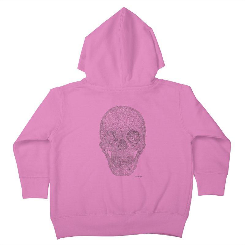 Skull (Black) Kids Toddler Zip-Up Hoody by Daniel Dugan's Artist Shop