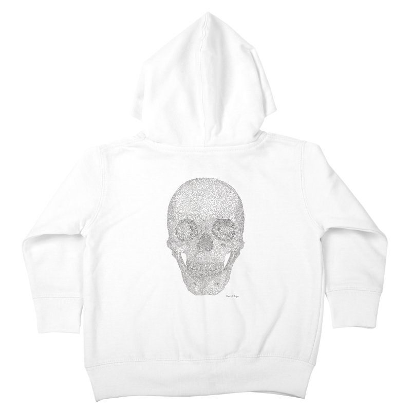 Skull (Black) Kids Toddler Zip-Up Hoody by Daniel Dugan's Artist Shop
