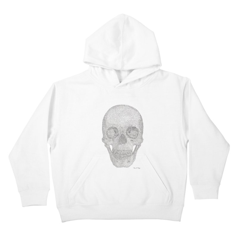 Skull (Black) Kids Pullover Hoody by Daniel Dugan's Artist Shop