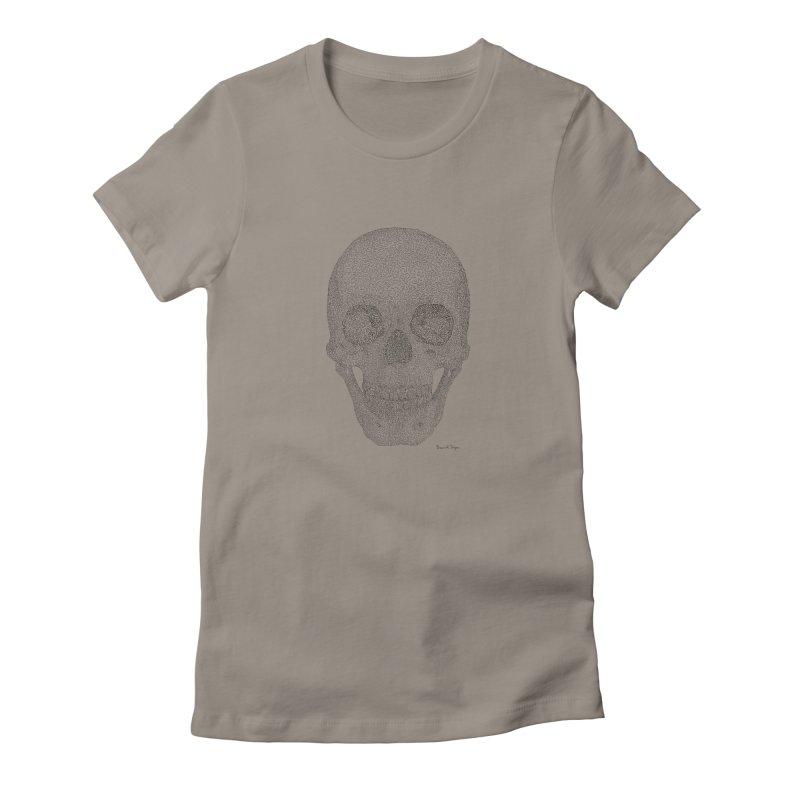 Skull (Black) Women's T-Shirt by Daniel Dugan's Artist Shop